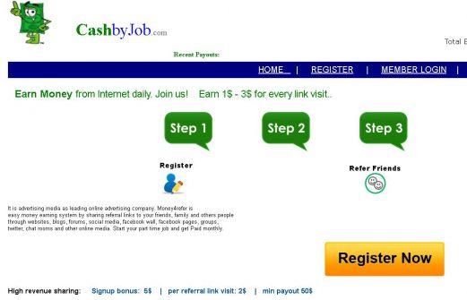 Cash By Job Scam