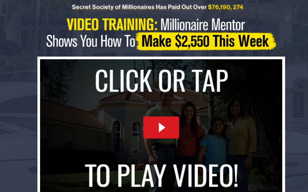 Secret Society Of Millionaires Scam Review