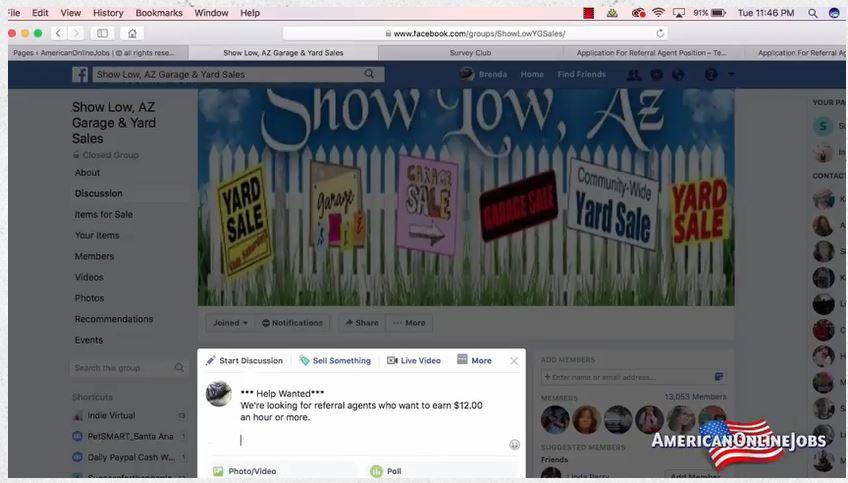 American Online Jobs Facebook