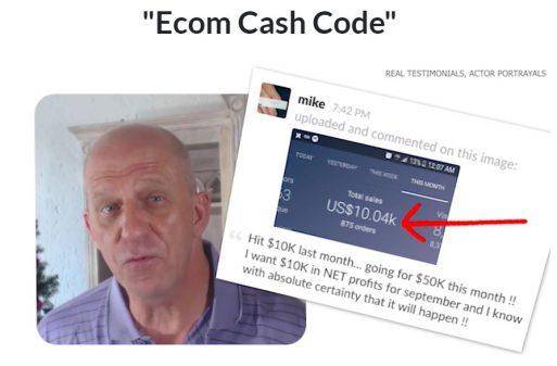 Ecom Cash Code Fake Testimonials