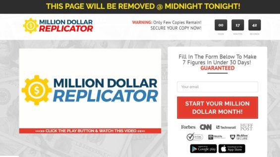 Million Dollar Replicator Scam Review