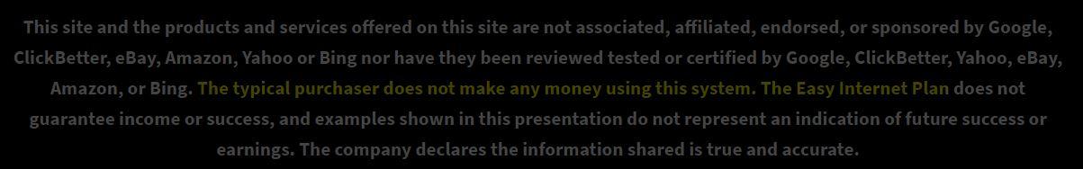 Instant Profit Sites Disclaimer