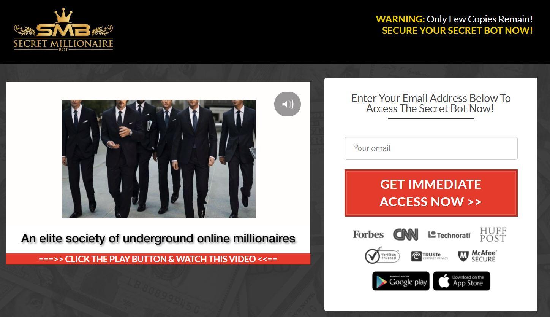 Secret Millionaire Bot Scam Review