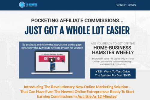 12 Minute Affiliate Main Sales Page