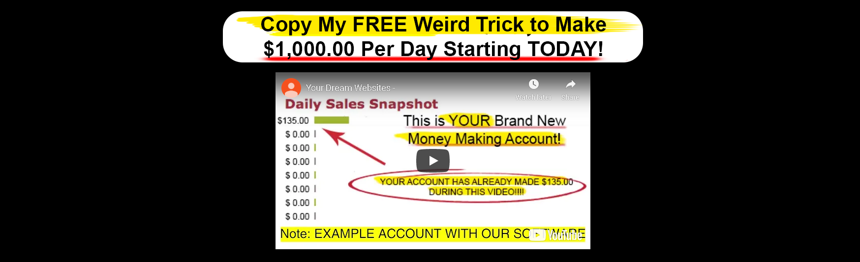 Your Dream Websites Scam Review