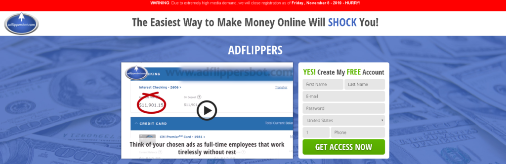 Ad Flippers Bot Scam Review