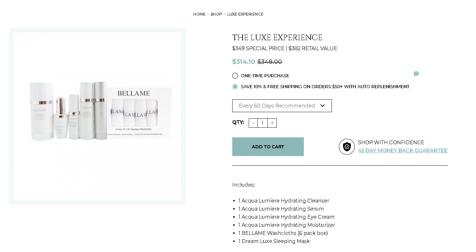 Bellame Scam Review - Expensive Products